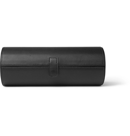 BAMFORD WATCH DEPARTMENT Textured-Leather Humidor in Black