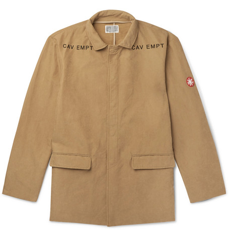 Logo Embroidered Brushed Twill Jacket by Cav Empt