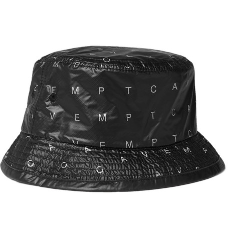 Array Logo Print Ripstop Shell Bucket Hat by Cav Empt
