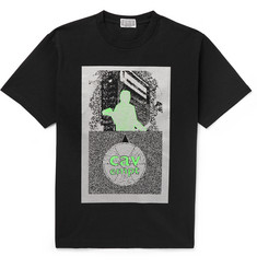 Cav Empt Silver Activity Printed Cotton-Jersey T-Shirt