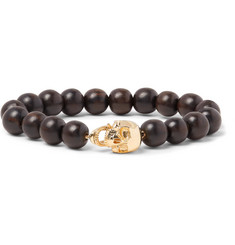 Luis Morais 14-Karat Gold and Ebony Bead Bracelet
