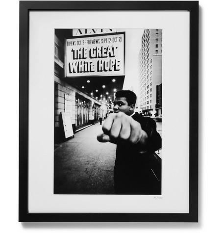 "SONIC EDITIONS Framed 1968 Muhammad Ali Print, 16"" X 20"" in Black"