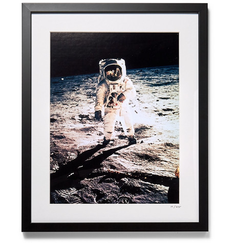 SONIC EDITIONS Framed 1969 Apollo 11 Print, 16 in Black