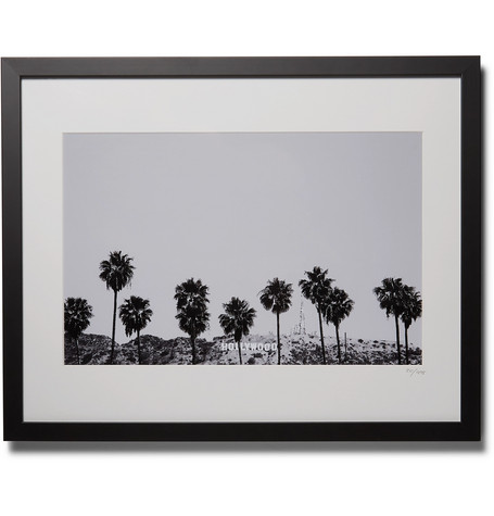 "SONIC EDITIONS Framed 2015 Stephen Albanese Los Angeles Print, 16"" X 20"" in Black"