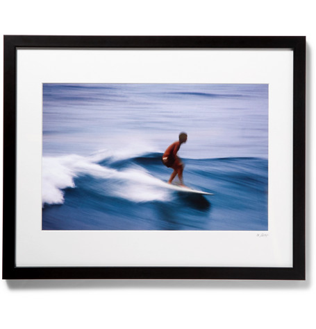 "SONIC EDITIONS Framed Surfer In Honolulu Print, 16"" X 20"" in Black"
