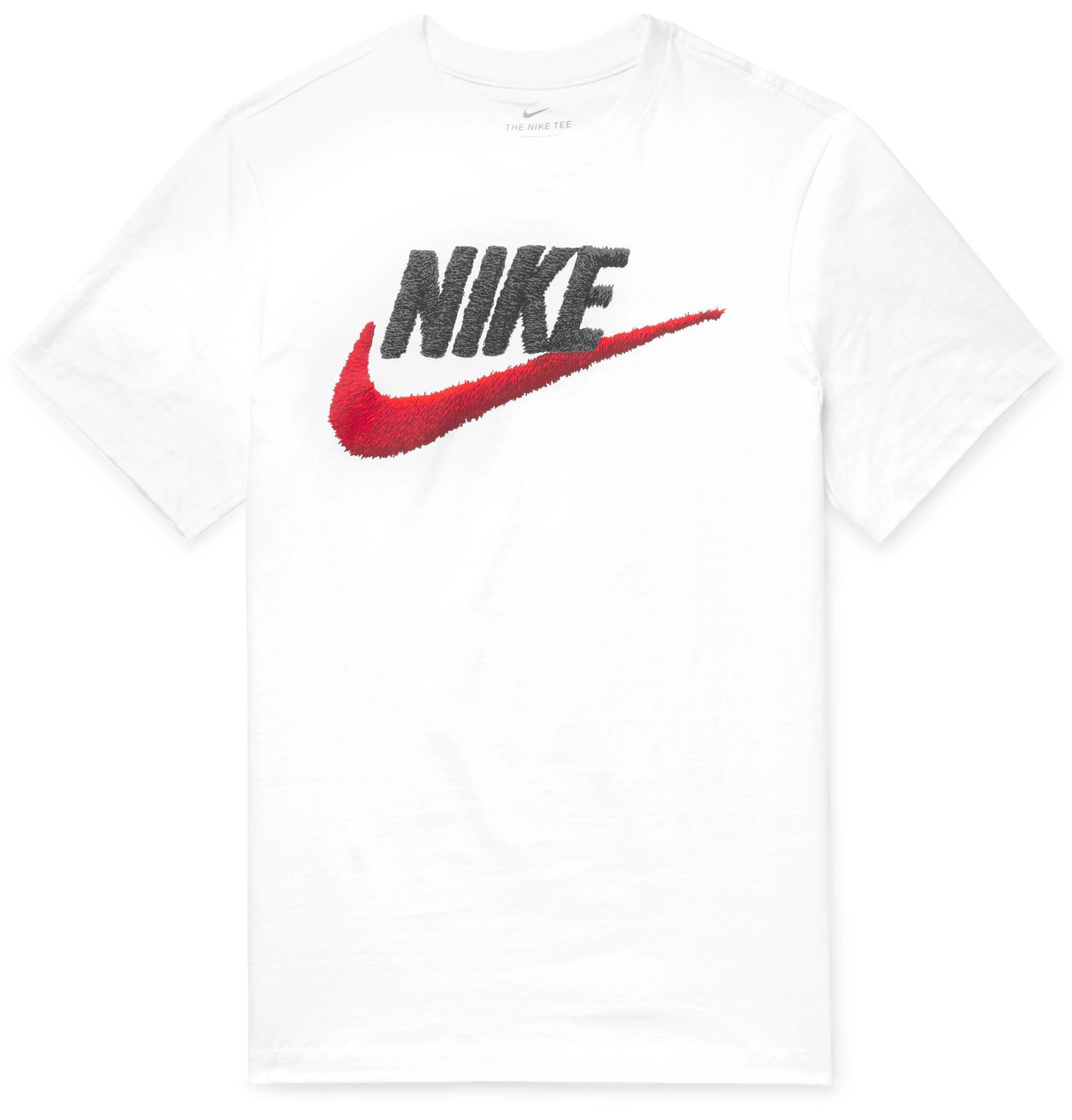 a72b0f30 NikeSportswear Logo-Print Cotton-Jersey T-Shirt