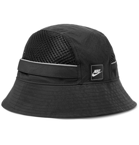 Nike Sportswear Logo-Appliquéd Nylon and Mesh Bucket Hat