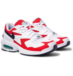 Nike Air Max2 Light Leather and Mesh Sneakers