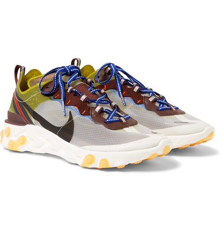 NIKE | Nike - React Element 87 Ripstop Sneakers - White | Goxip