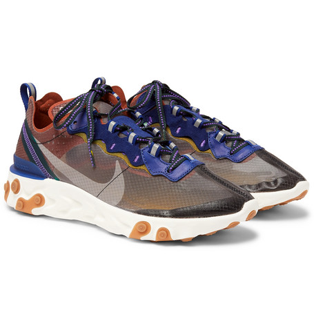 NIKE | Nike - React Element 87 Ripstop Sneakers - Gray | Goxip