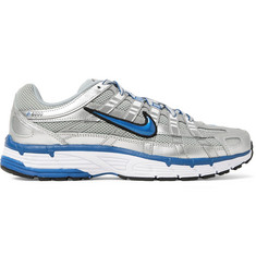 Nike P-6000 Leather-Trimmed Mesh Sneakers