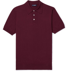 Beams F Slim-Fit Cotton Polo Shirt