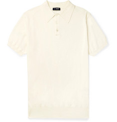 Beams F - Slim-Fit Cotton Polo Shirt