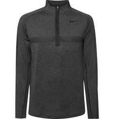 Nike Golf - Slim-Fit Mélange Dri-FIT Half-Zip Golf Top