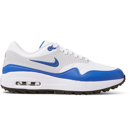 NIKE | Nike Golf - Air Max 1g Coated-Mesh Golf Shoes - White | Goxip