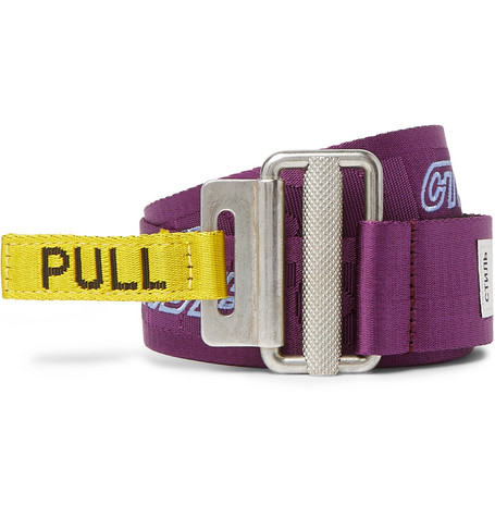 4cm Logo Embroidered Webbing Belt by Heron Preston