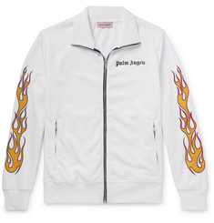 Palm Angels Slim-Fit Glittered Printed Tech-Jersey Track Jacket