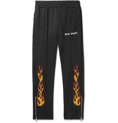 Palm Angels - Tapered Glittered-Print Tech-Jersey Track Pants