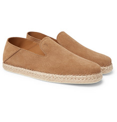 Tod's - Collapsible-Heel Suede Espadrilles