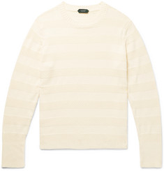 Incotex Striped Textured-Cotton Sweater