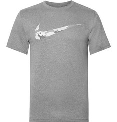 Nike Training Logo-Print Mélange Dri-FIT T-Shirt