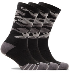 Nike Training - Three-Pack Everyday Cushioned Camouflage Dri-FIT Socks