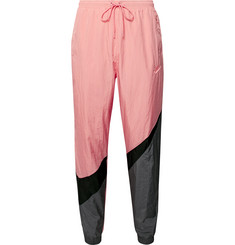 Nike Tapered Logo-Print Colour-Block Nylon Track Pants