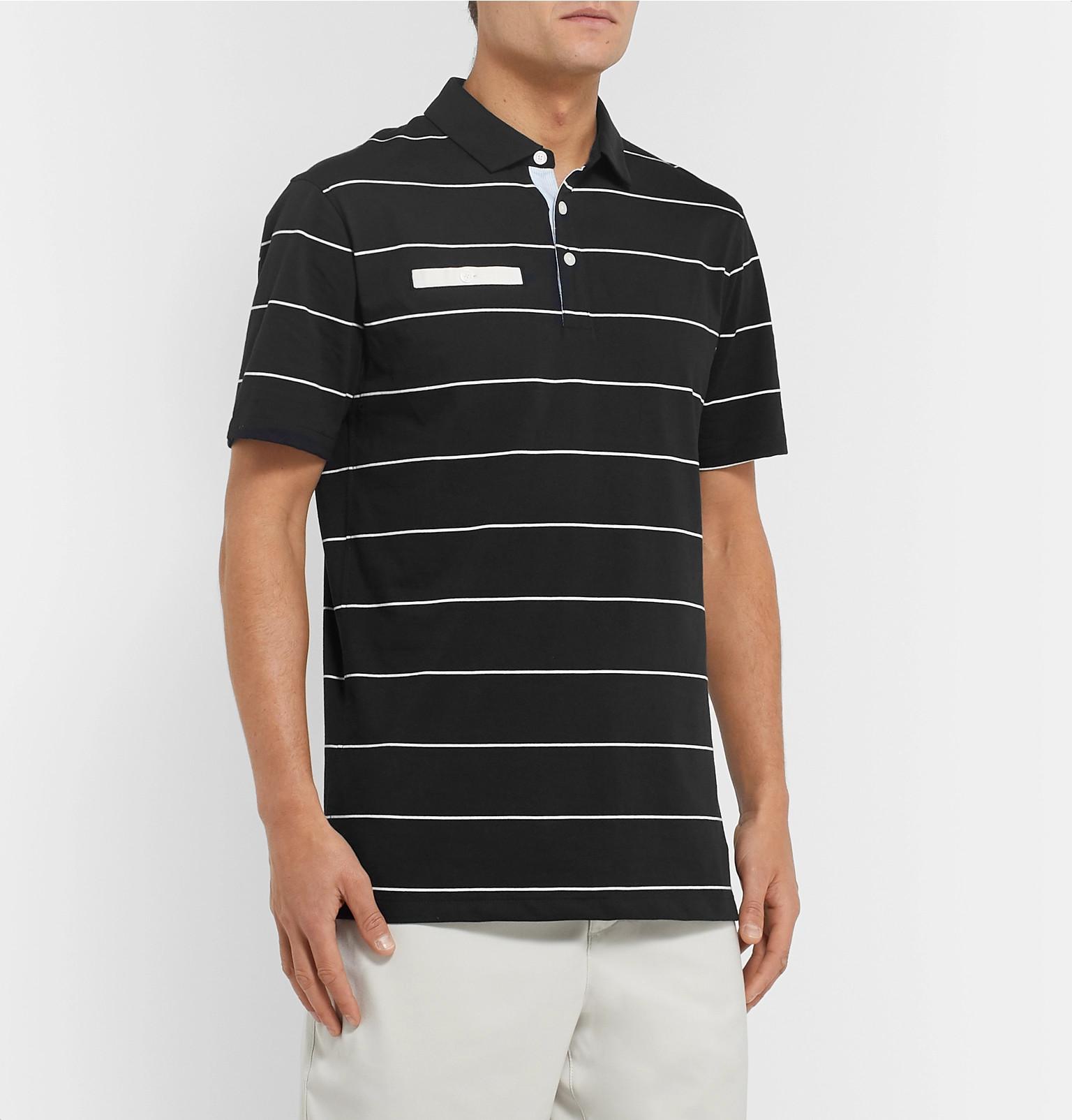 detailed look 0c4a0 a7a73 Nike GolfPlayer Striped Dri-FIT Golf Polo Shirt