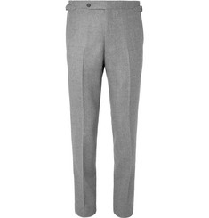Husbands Grey Slim-Fit Mélange Wool-Flannel Trousers