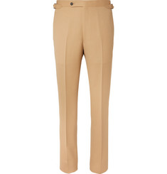 Husbands Camel Slim-Fit Wool-Flannel Trousers