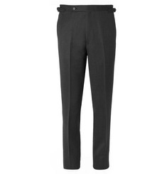 Husbands Charcoal Slim-Fit Mélange Wool Trousers