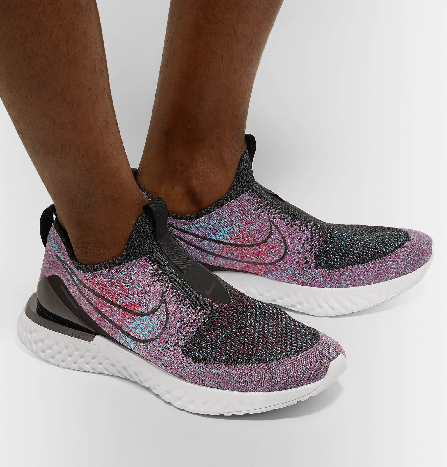 212d62a78946a Nike Running - Epic Phantom React Flyknit Slip-On Running Sneakers