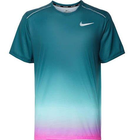 Miler Printed Degradé Dri Fit T Shirt by Nike Running