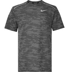 Nike Running Rise 365 Perforated Camouflage-Print Breathe Dri-FIT T-Shirt