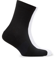 Nike Running - Two-Pack Multiplier Logo-Intarsia Dri-FIT Socks