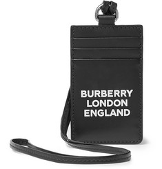 Burberry Logo-Print Leather Cardholder