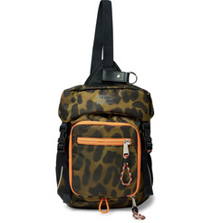 Burberry Animal-Print Nylon Cross-Body Backpack