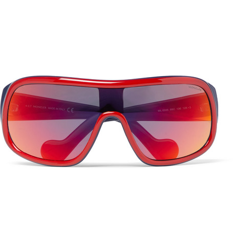 Moncler – Acetate Ski Sunglasses – Red