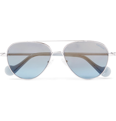 Moncler – Aviator-style Palladium-plated Sunglasses – Blue