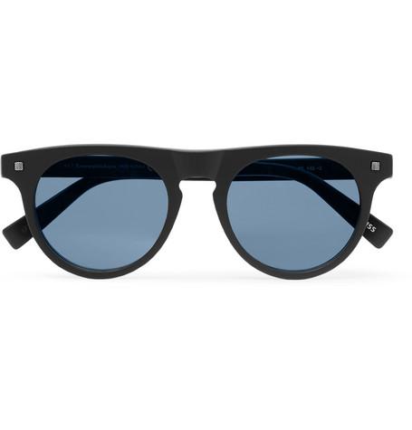 ERMENEGILDO ZEGNA | Ermenegildo Zegna - D-frame Matte-acetate Sunglasses - Blue | Goxip