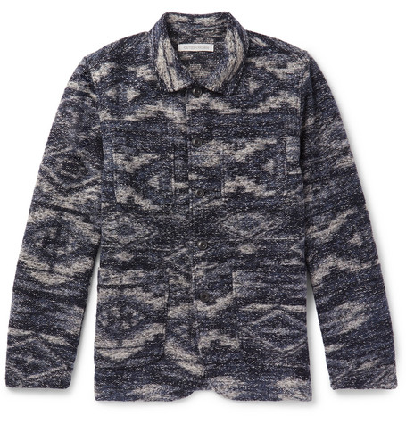 OUTERKNOWN Pacifica Jacquard Chore Jacket in Indigo