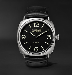 Panerai - Radiomir Black Seal 8 Days Acciaio 45mm Stainless Steel and Leather Watch