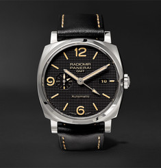Panerai Radiomir 1940 3 Days GMT Automatic Acciaio 45mm Stainless Steel and Leather Watch
