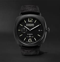 Panerai Radiomir 8 Days Ceramica 45mm Ceramic and Suede Watch