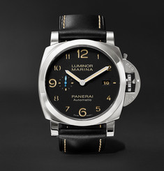 Officine Panerai Luminor Marina 1950 3 Days Acciaio 44mm Stainless Steel and Leather Watch