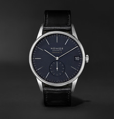 NOMOS Glashütte - Orion Neomatik Datum Automatic 41mm Stainless Steel and Cordovan Leather Watch