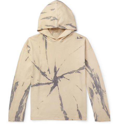 Massimo Alba Drake Tie-Dyed Cotton and Cashmere-Blend Hoodie