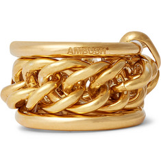 AMBUSH® Gold-Plated Ring