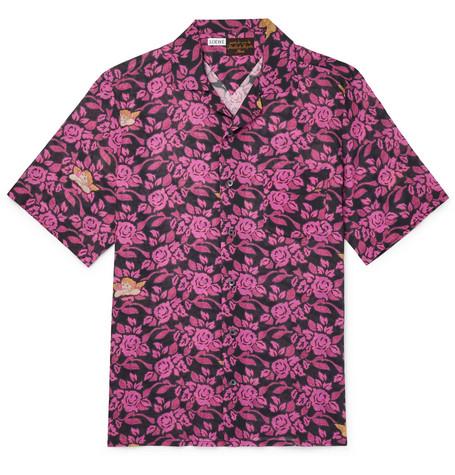 4bf4585c967ec Loewe - + Paula s Ibiza Camp-Collar Floral-Print Cotton-Gauze Shirt