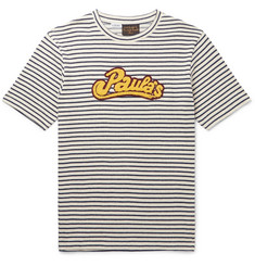 Loewe - + Paula's Ibiza Logo-Appliquéd Striped Cotton T-Shirt